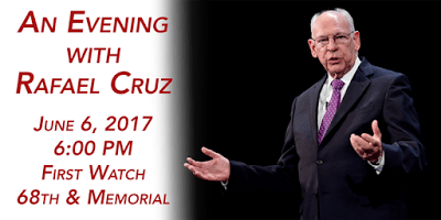 Rafael Cruz to speak at Tulsa Republican Men's Club on June 6th