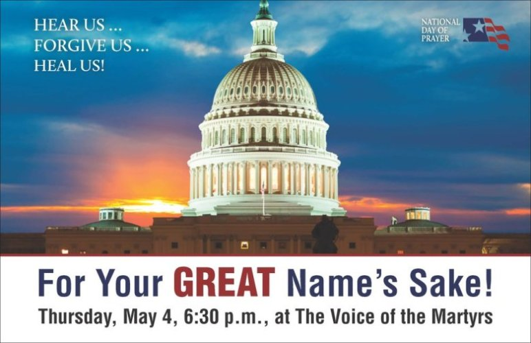 National Day of Prayer at Voice of the Martyrs in Bartlesville May 4th