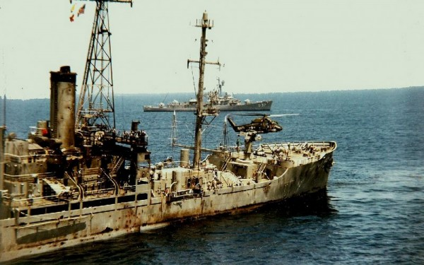 Rescue efforts the day after the USS liberty was attacked by Israeli forces.