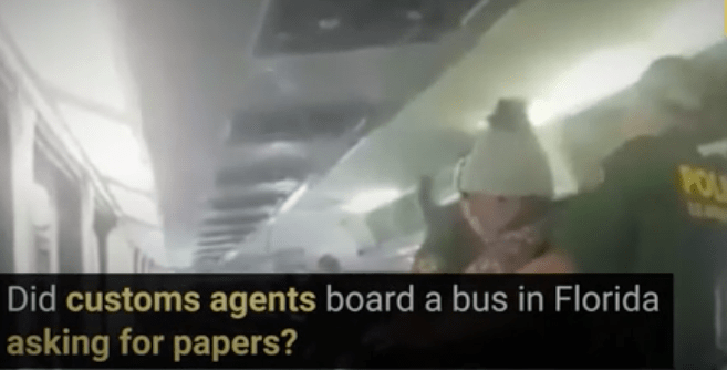 R3publicans:  Did Customs Agents Board a Bus in Florida Asking for Proof of Citizenship?