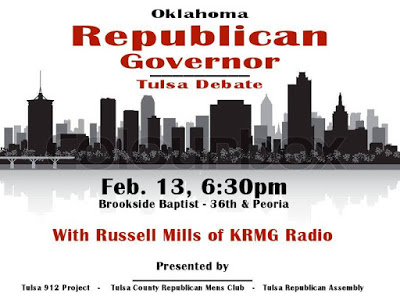 MuskogeePolitico:  GOP Gubernatorial Debate tonight in Tulsa
