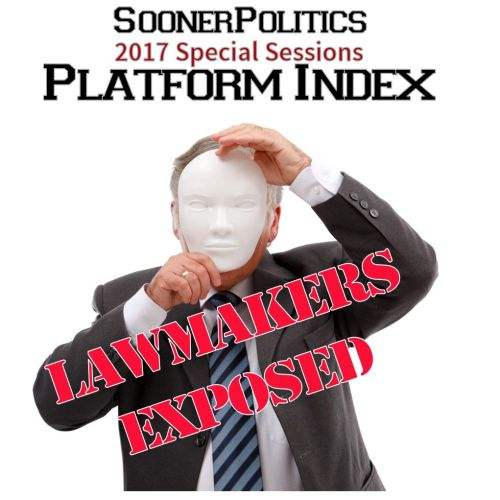 Tapp into Common Sense:  Sooner Politics 2017 Special Sessions Platform Index