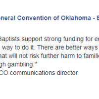 Oklahoma Southern Baptists oppose gambling expansion