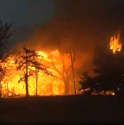 Sooner Politics:  Wildfires Sweep Through Hinton, OK