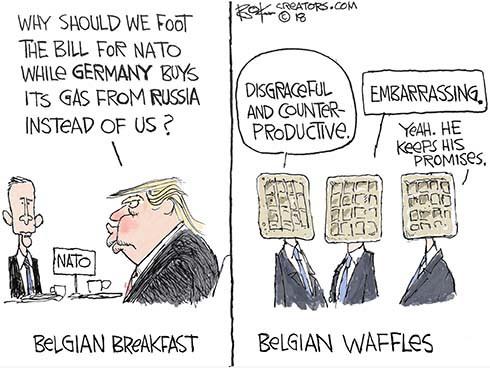 NATO Brussels Breakfast Belgian Waffles