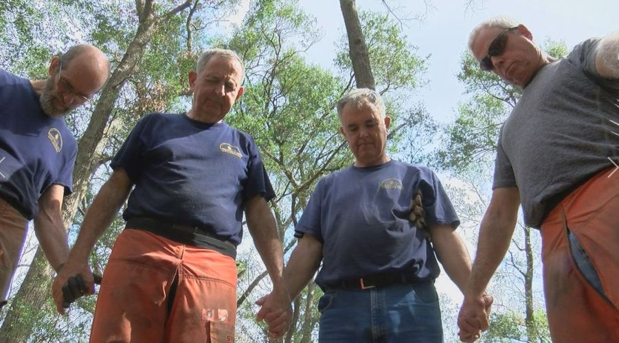 Amid fallen trees and debris, chainsaw ministry carves out hope and faith with each cut