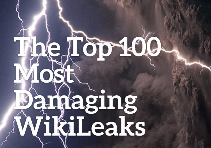 R3publicans/TMR:  The Top 100 Most Damaging WikiLeaks