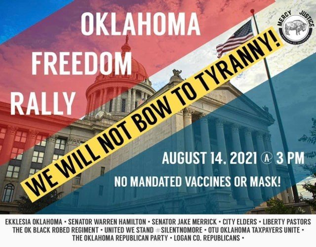 Oklahomans To Challenge Jab Mandates At State Capitol