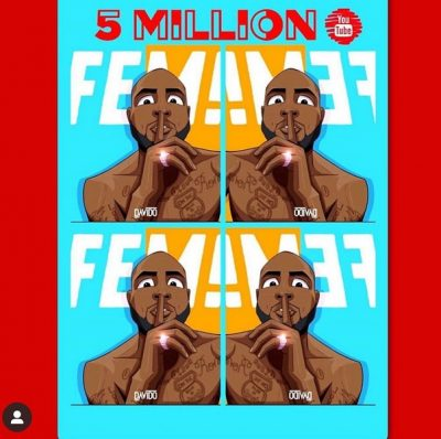 "Davido elated as ""FEM"" video hits 5 million views on YouTube"