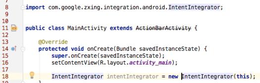 zxing を Android Studio で使えるようになりました♪