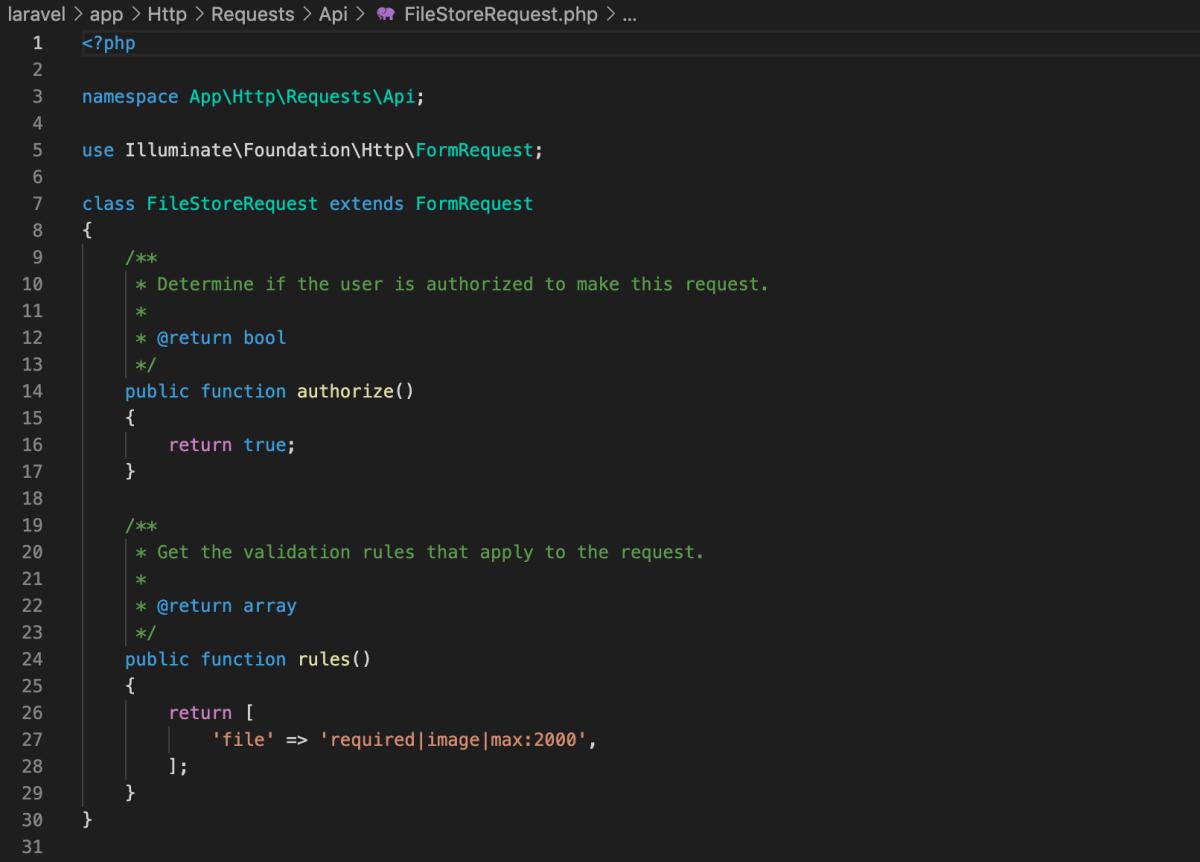 Laravel 6 。ファイルを扱うシンプルな CRUD API の例、その2。バリデーションとそのテストを作った。