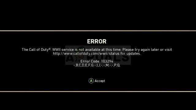 Fix: Call of Duty WW2 Fehlercode 103294