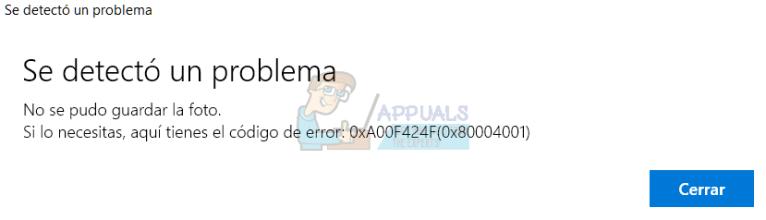 Fix: Webcam-Kamerafehler 0xA00F424F (0x80004001)