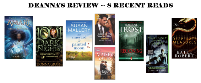 Deanna's Review 8 Recent Reads