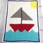 Sailboat C2c Baby Blanket Free Crochet Pattern Okiegirlbling N Things