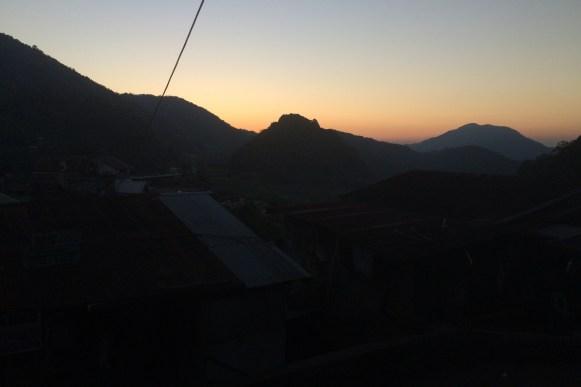 wschód słońca w Banaue