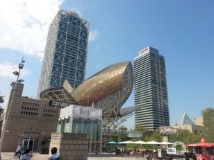 Barcelona rzeźba ryby