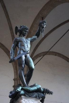 "Perseusz z głową meduzy"" Celliniego, plac Della Signoria"