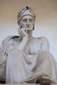 postać Dante'go , bazylika Di Santa Croce, Florencja