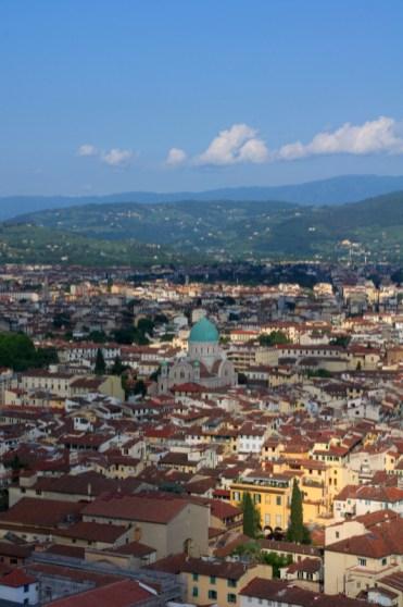 widok ze szczytu kopuły Duomo
