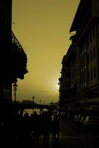 zachód Słońca nad Arno, Florencja