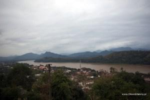 wzgórze Phou Si, widok na Lunag Prabang i Mekong