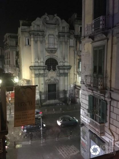 Dante i Beatricze - widok z balkoniku