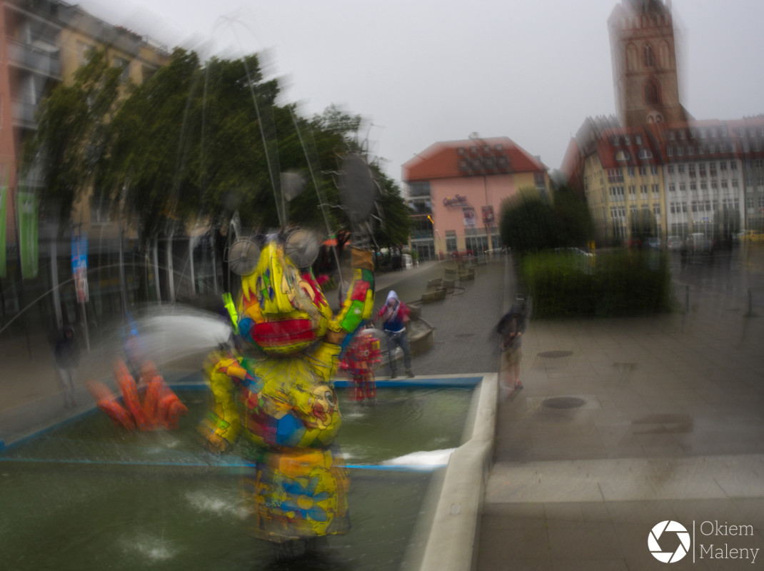 Comic Brunnen Frankfurt nad Odrą