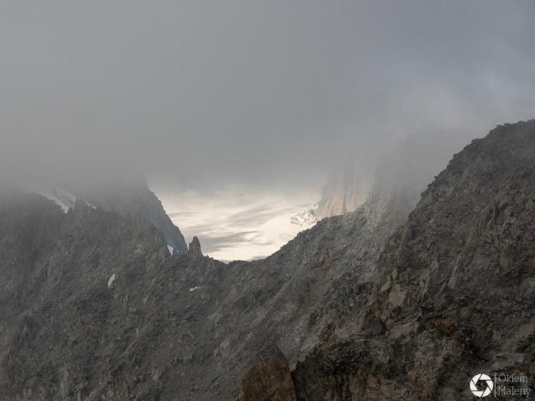 mgła w Alpach