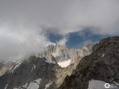 widok na Mont Blanc z Punta Helbroner