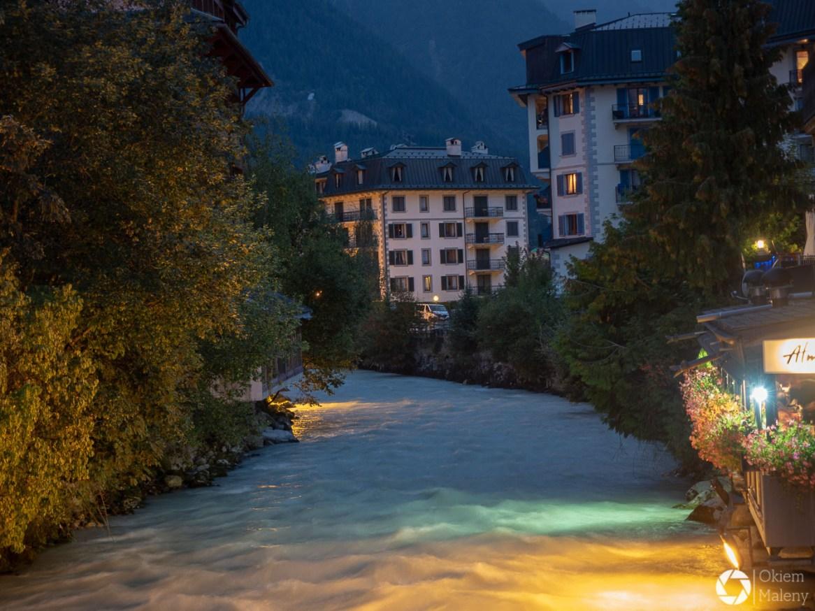 rzeka Arve w Chamonix