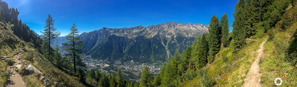 widok na dolinę Chamonix