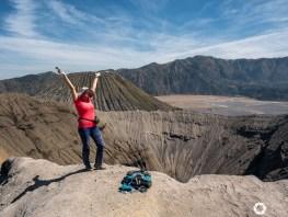 wulkan bromo indonezja, jawa, kaldera tenggere