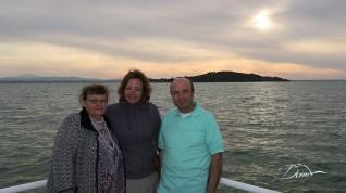Z mamą i Mario nad jesiorem Trazieno.