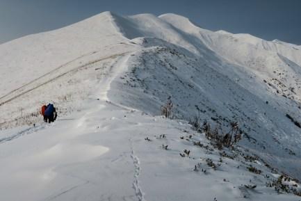 Zima na przełęczy Chkhutnieri