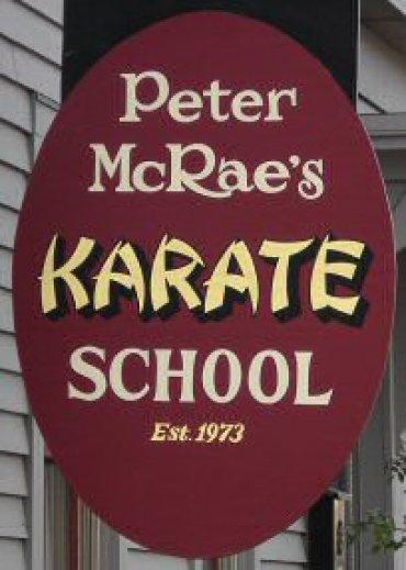 Peter McRae's Karate School Sign