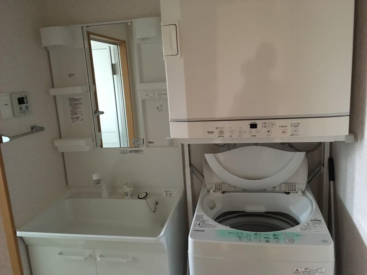 東村移住体験の洗面所