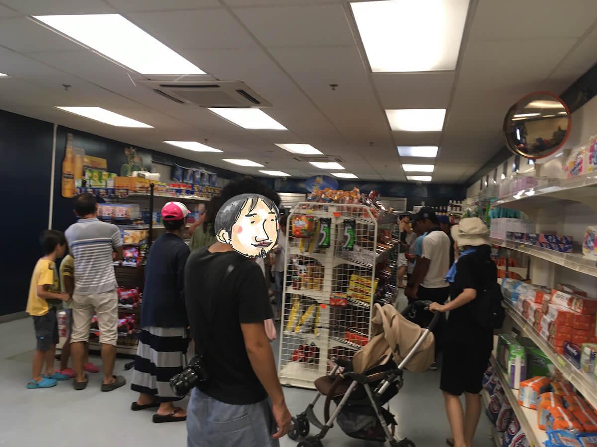 アメリカ基地のスーパー
