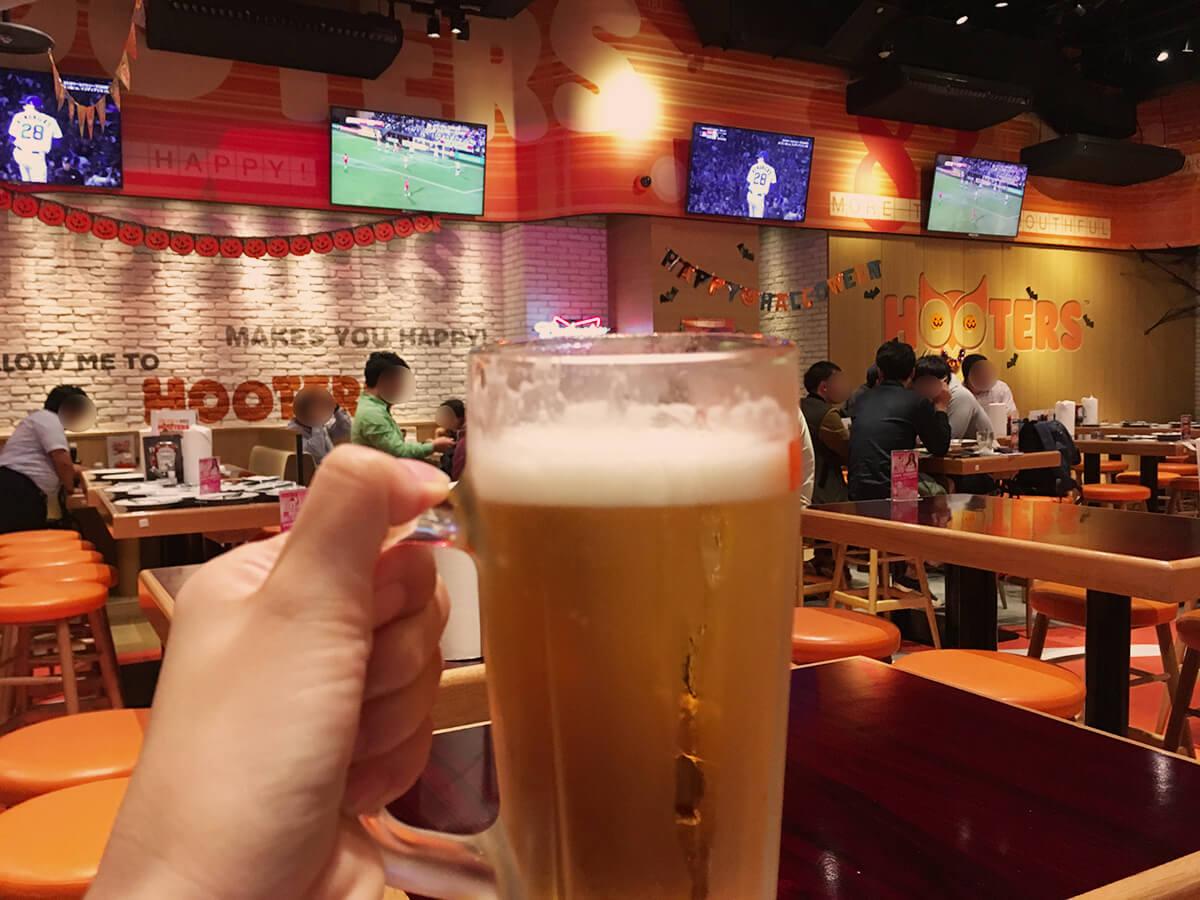 大きなジョッキビール