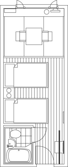 間取り図:和洋室C ( ツインベッド+3畳 )
