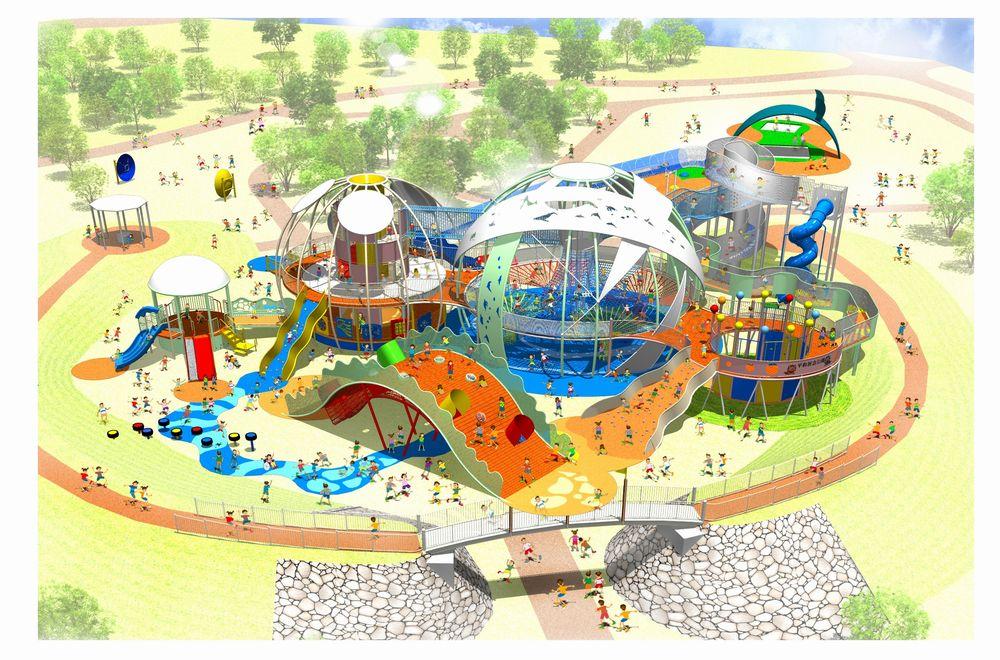 平和祈念公園・新遊具施設「命の卵」
