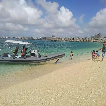 RIBの醍醐味!これが沖縄オンビーチスタイル!