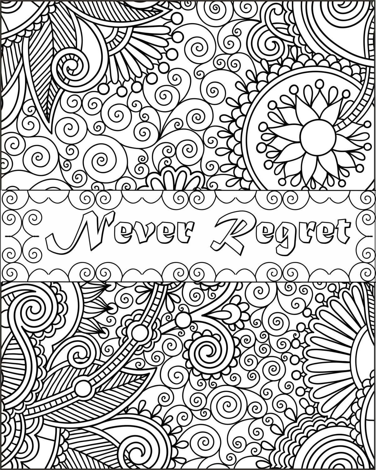 Printable Inspirational Quotes Coloring Pages Gallery