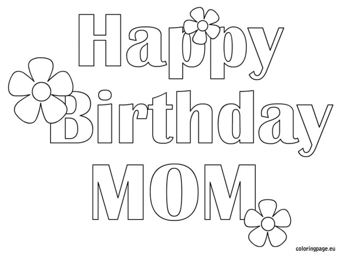 Happy Birthday Mommy Coloring Pages To Print