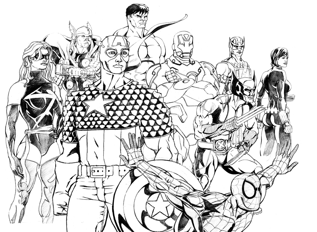 Amazing Avengers Captain America Coloring Pages