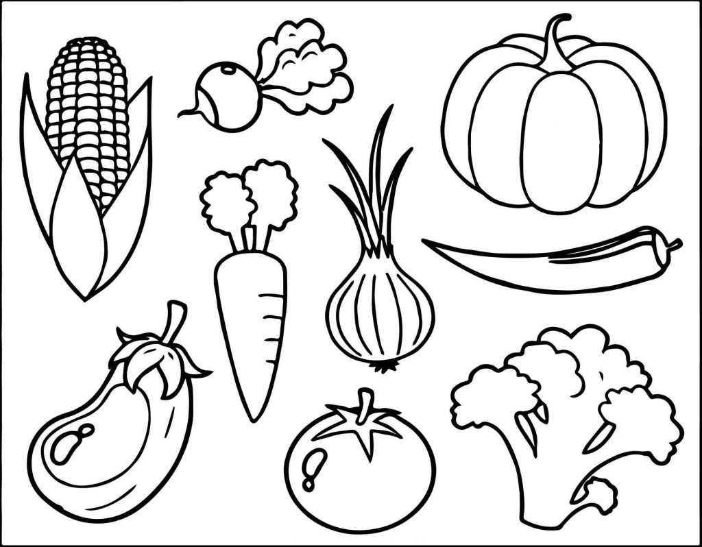 Coloring Pages Of Healthy Foods Collection