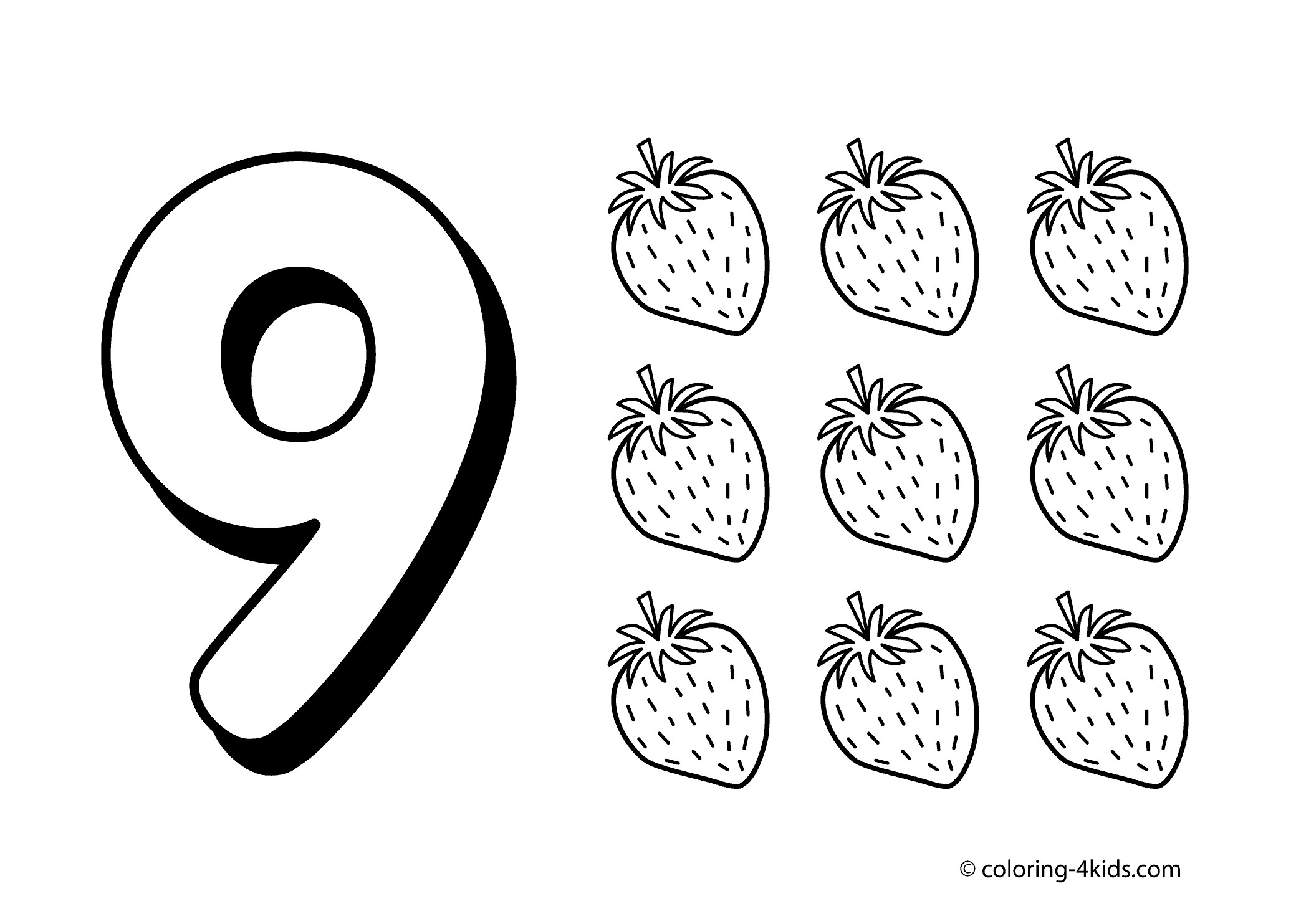 Preschool Number Coloring Pages Collection
