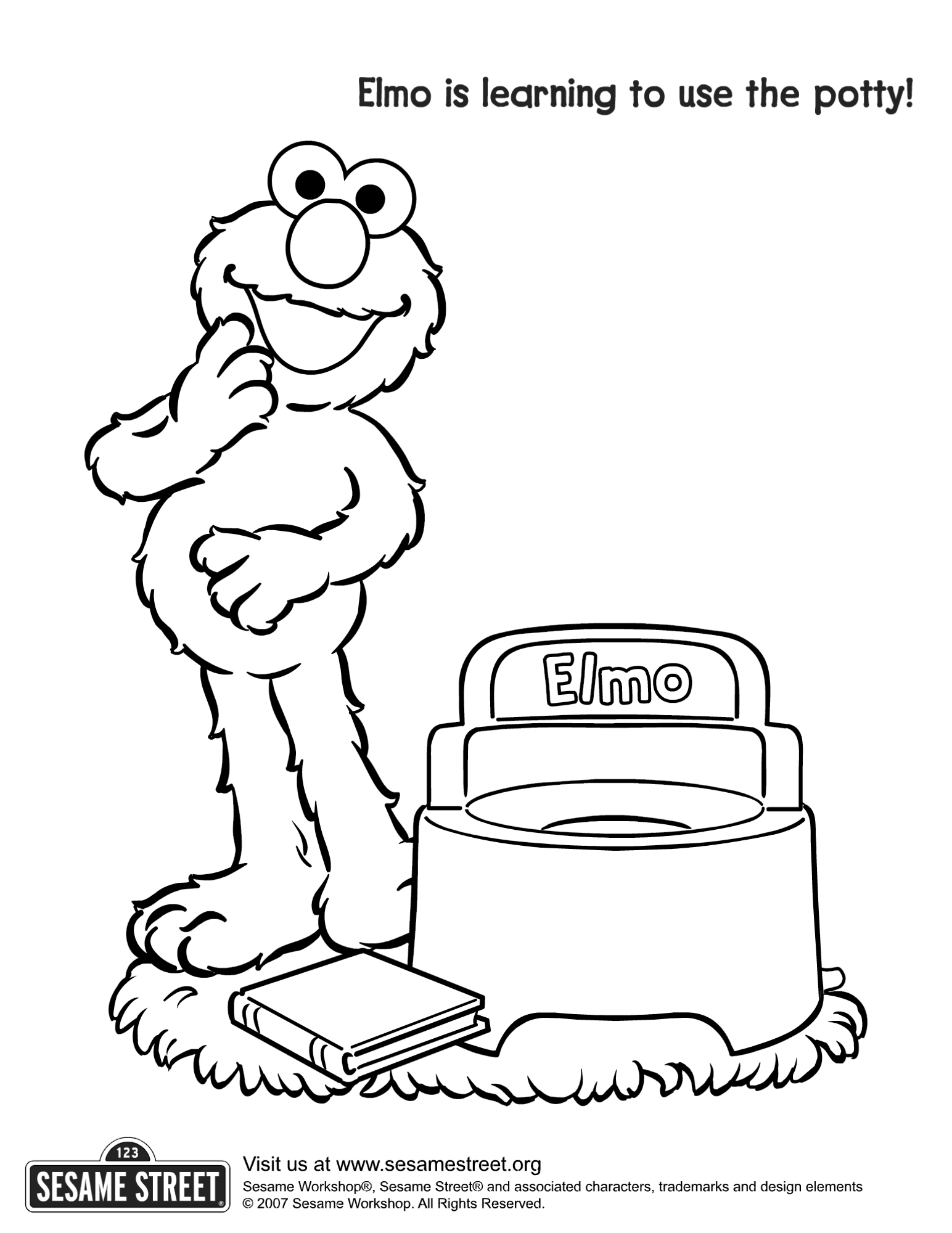 Free Elmo Printable Coloring Pages Download