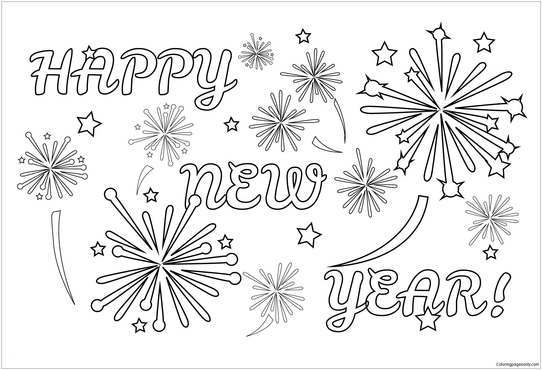 Firework Coloring Pages Printable