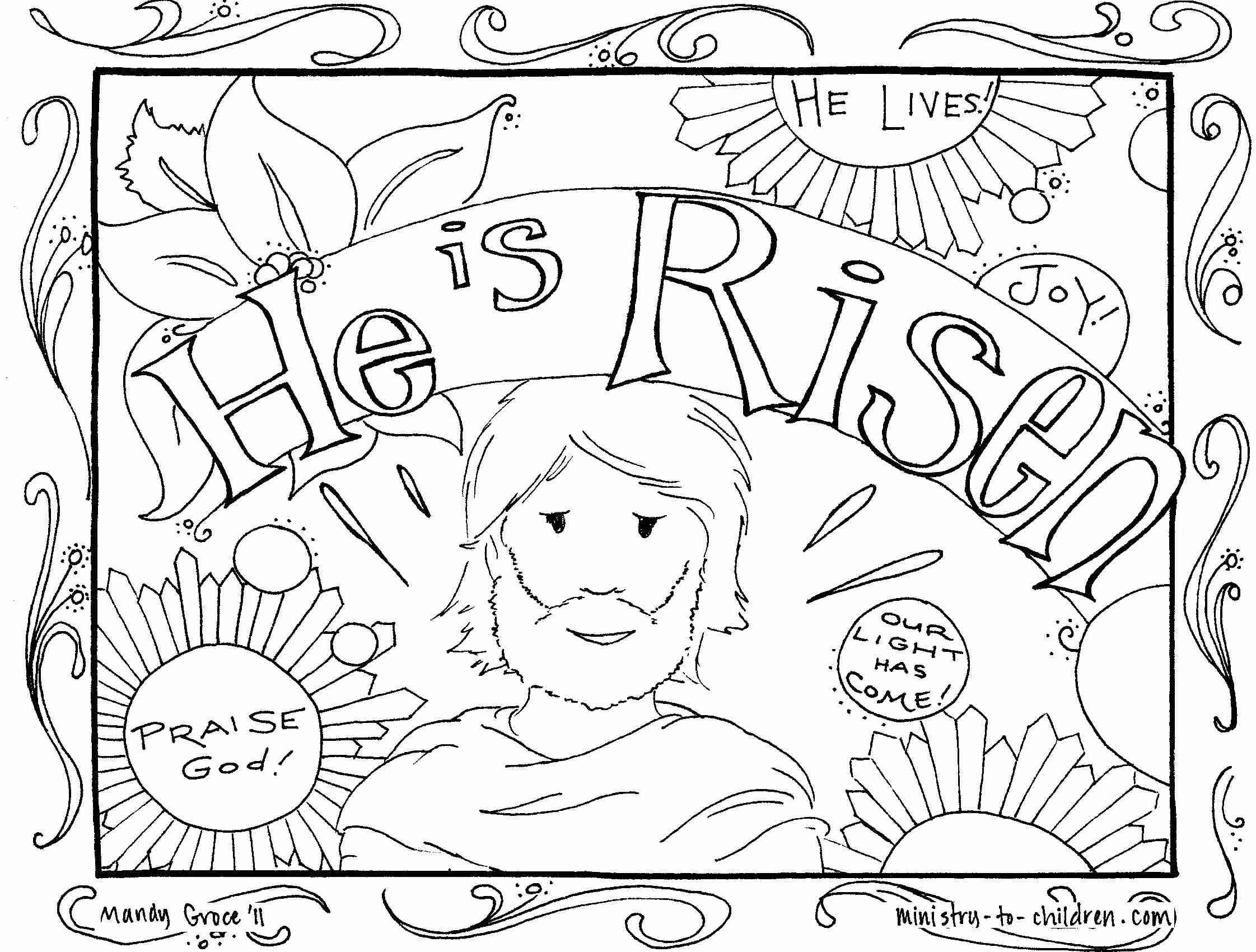 Jesus Loves the Little Children Coloring Pages Printable
